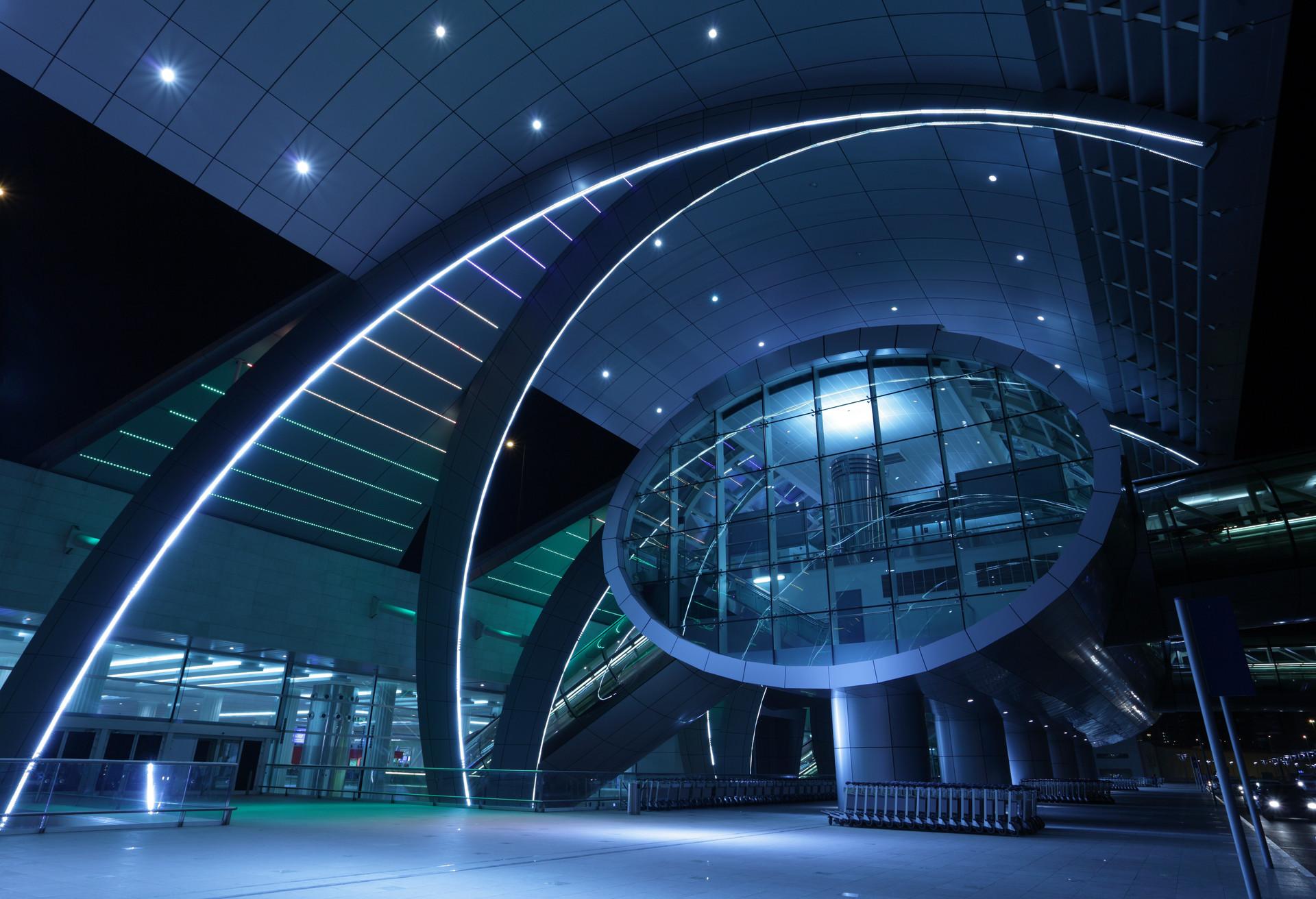 La terminal 3 del aeropuerto de Dubái era el mayor edificio del mundo en el momento de su construcción