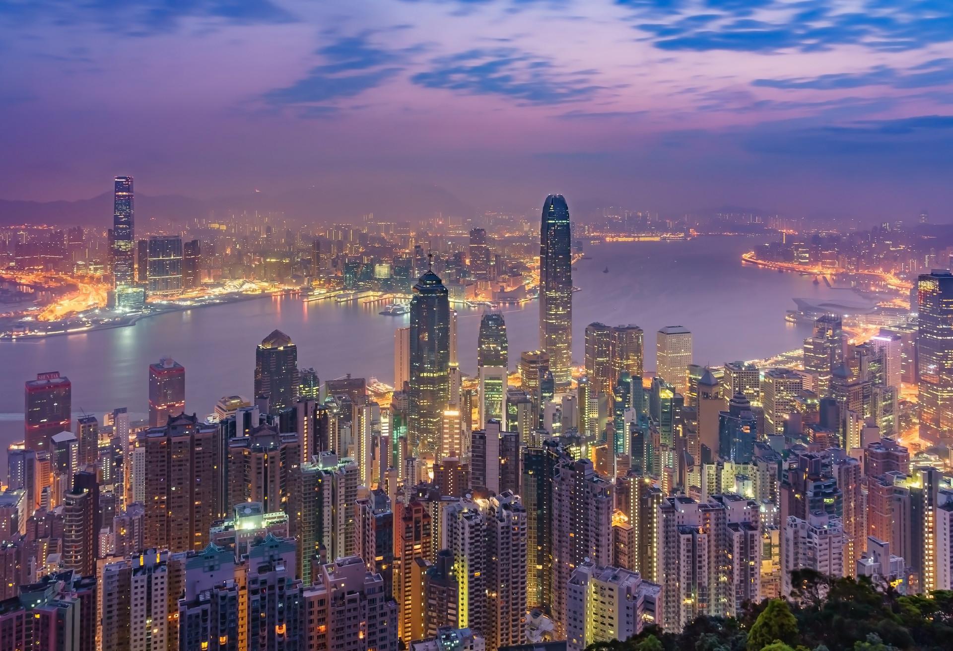 La gran ciudad de Hong Kong