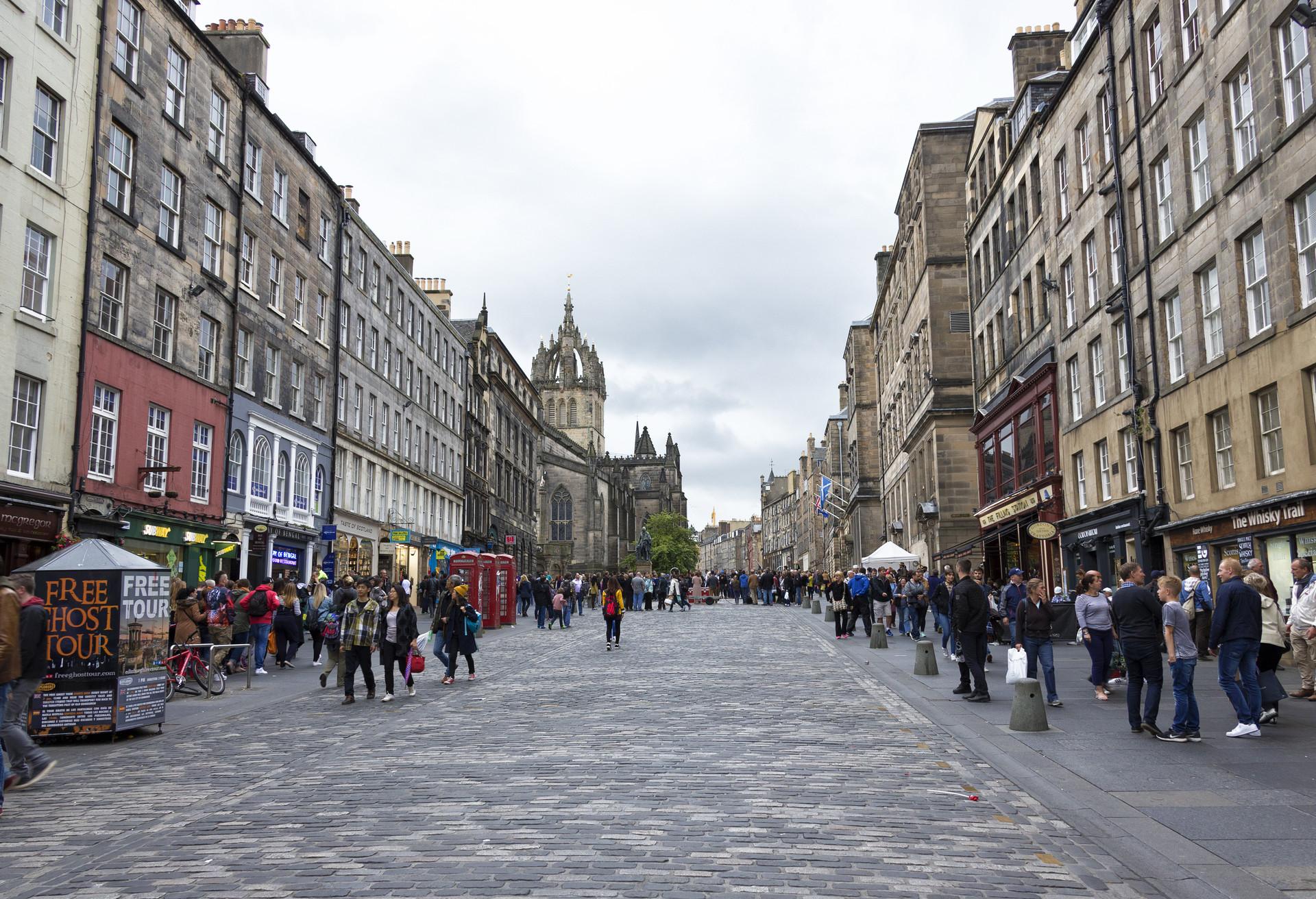The Royal Mile en Edimburgo